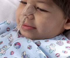 Small Dale NasoGastric tube holder on a child